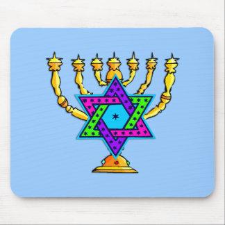 Jewish Candlesticks Mouse Pad
