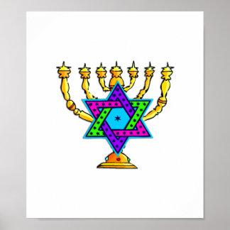 Jewish Candlesticks Poster