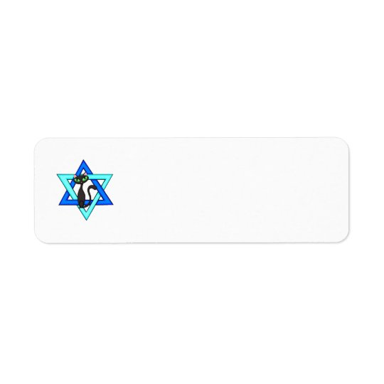 Jewish Cat Stars Return Address Label