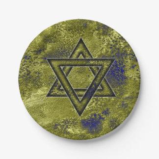 Jewish Decorating Ideas, Star of David Paper Plate