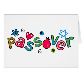 Jewish Festival of Passover Text Greeting Greeting Card
