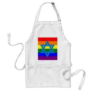 Jewish Gay Pride Flag Apron