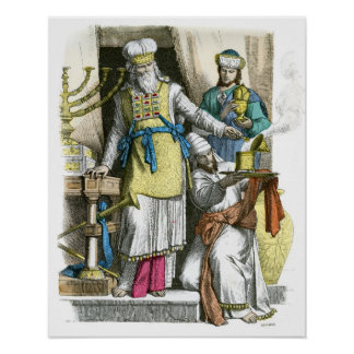 Jewish High Priest from before the time of Christ Poster
