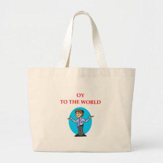 jewish large tote bag