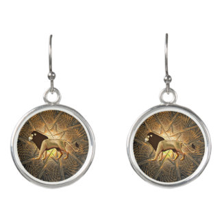 Jewish Lion Earrings