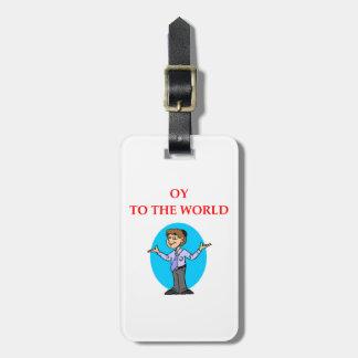 jewish luggage tag