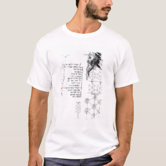 Jewish manuscript illustrating phrenology T-Shirt