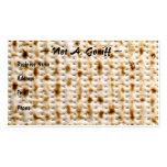 Jewish Matzoh Business Card ~ Customise!