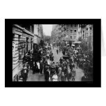 Jewish New Year Fun on the East Side of NYC 1910 Greeting Card
