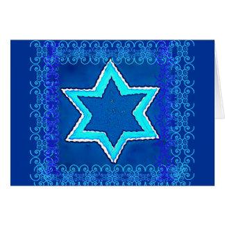Jewish New Year Star of David Card 1