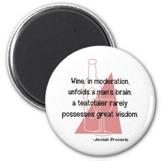 Jewish Proverb 6 Cm Round Magnet