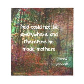 Jewish proverb notepad
