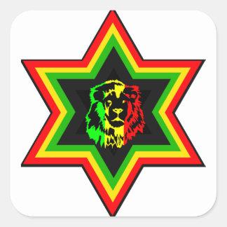Jewish Rasta Square Sticker