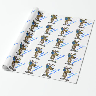 Jewish Reindeer Chrismukkah Wrapping Paper Ver.2