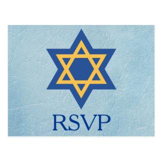 Jewish RSVP Postcard