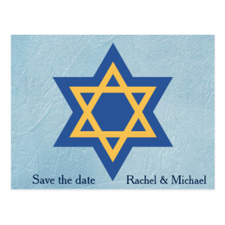 Jewish Save the date Postcard