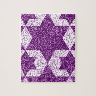 Jewish Signs Style Designed in Jerusalem Jigsaw Puzzle