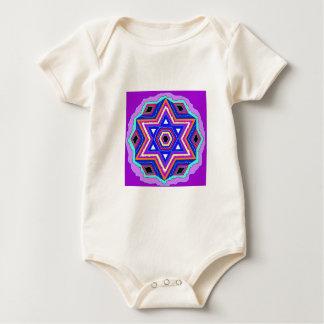 Jewish Star of David Baby Bodysuit