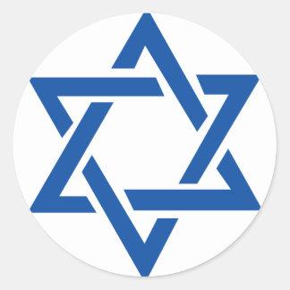 Jewish Star of David Blue Classic Round Sticker