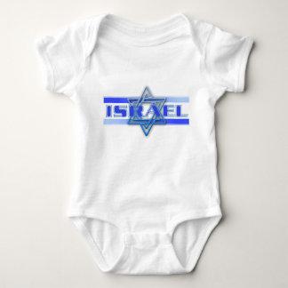 Jewish Star Of David Israel Blue and White Baby Bodysuit