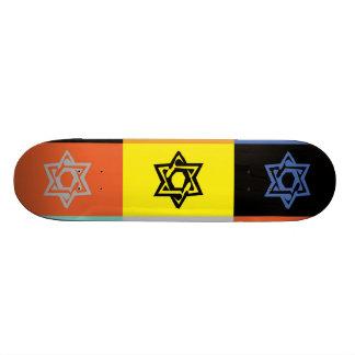 JEWISH STAR OF DAVID  Skateboard