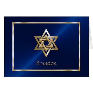 Jewish Star of David Thank You Card