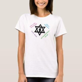 Jewish Star Peace Sign Hebrew Wishes T-Shirt