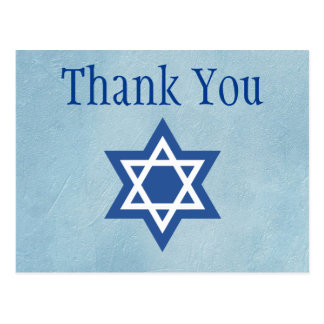Jewish Thank You Postcard