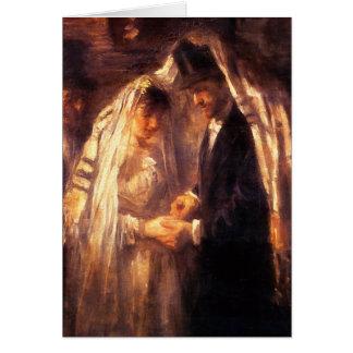 Jewish Wedding - Vintage Art by Israëls Card