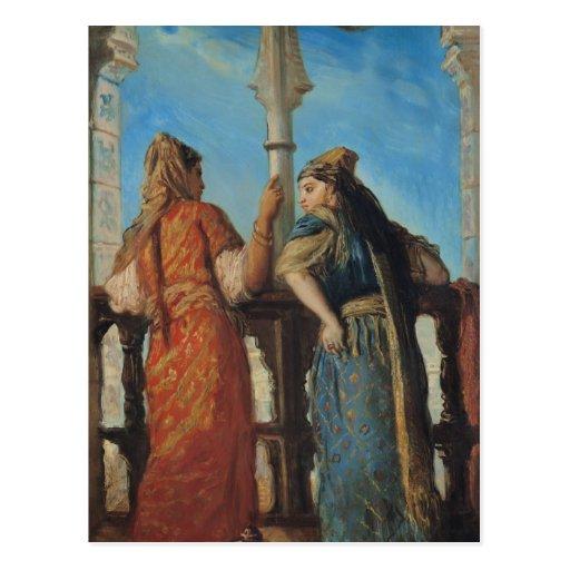 Jewish Women at the Balcony, Algiers, 1849 Post Card