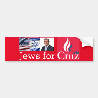 Jews for Cruz Bumper Sticker
