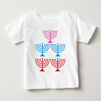 Jews Jewish Menorah sparkle candelabrum Baby T-Shirt