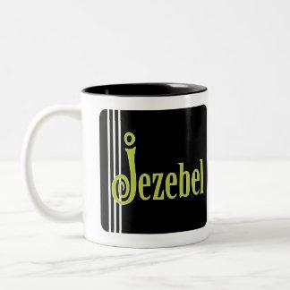 Jezebel (in green) coffee mugs