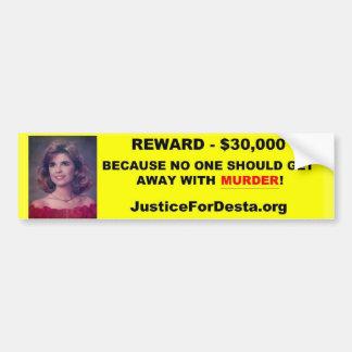 JFD Reward Bumper Sticker