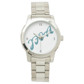 JFIA Deri Mens Silver Watch