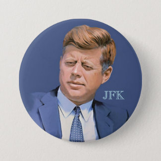 JFK 7.5 CM ROUND BADGE