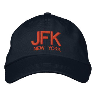 JFK Airport Personalized Adjustable Hat Embroidered Baseball Caps