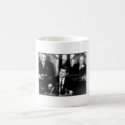 JFK Announces Moon Landing Mission Mugs