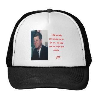 JFK & Ask Not Quote Cap