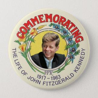 JFK Commemoration 10 Cm Round Badge