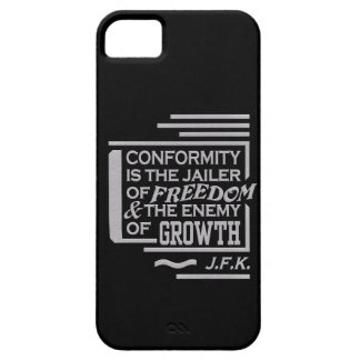 JFK Conformity Quote iPhone 5 Case-Mate, customize iPhone 5 Case
