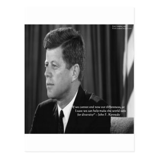 JFK Difference/Diversity Quote Postcard