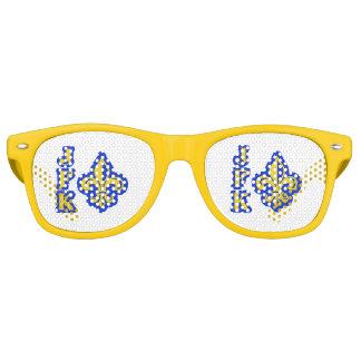 JFK Fleur de Lis Retro Glasses