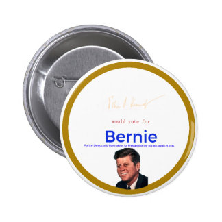 JFK for Bernie Sanders 6 Cm Round Badge
