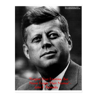 """JFK """"Forgive Not Forget"""" Wisdom Quote Gifts & Card Postcard"""