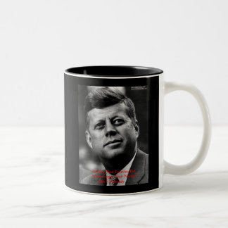 """JFK """"Forgive Not Forget"""" Wisdom Quote Gifts & Card Two-Tone Mug"""