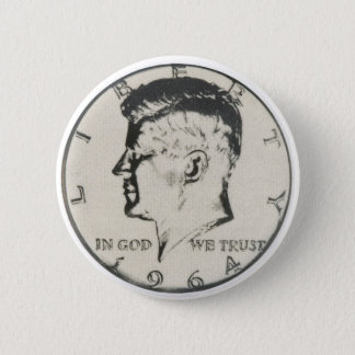 JFK Half Dollar button