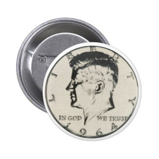 JFK Half Dollar button