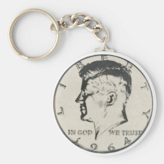 JFK Half Dollar keychain