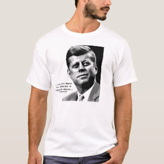 JFK Hope Poster (Black/White) Famous JFK Quote T-Shirt